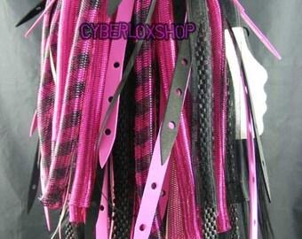 Cyberlox Dread Goth Pink Black PinkWeb Hair Falls