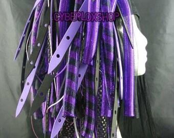 Cyberlox Dread Goth Purple Black PurpleWeb Hair Falls