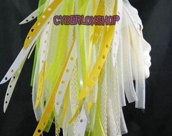 Cyberlox Dread Goth Yellow White YellowBleach Hair Falls