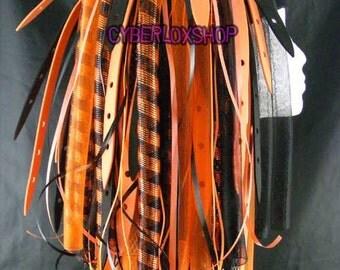 Cyberlox Dread Goth Orange Black OrangeWeb Hair Falls