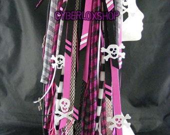 Cyberlox Dread Goth Pink Black Pirate Hair Falls