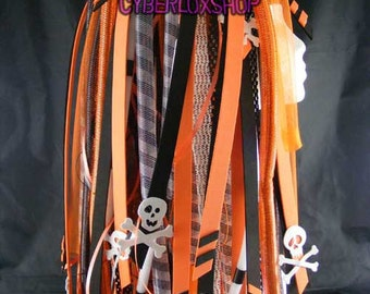 Cyberlox Dread Goth Orange Black Pirate Hair Falls