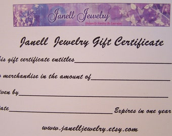 50 Dollar Gift Certificate for Every Occasion