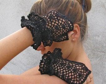 Sexy Gloves Mittens  Women Accessories short black elegant fingerless gloves
