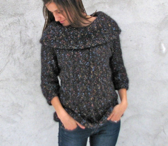 Women tops Sweaters & Cardigans Handmade airy Sweater fits...XS...S...M ...3/4 sleeves