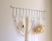 Galvanized Metal Rack /  Display Wall Hanging / Set of 3 / Industrial Retro Decor / Repurposed / Office Organizer