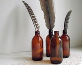 Vintage Beer Bottles Amber Glass Bottle Instant Collection Rustic Vase Wedding Decor Man Cave