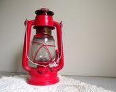 Kerosene Lantern Red Vintage Camping Light Cabin Decor Rustic