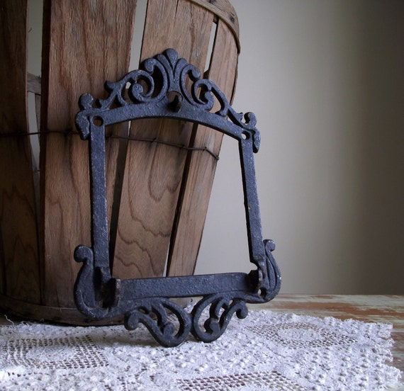 Cast Iron Frame Ornate Antique Rustic Industrial Decor Wall