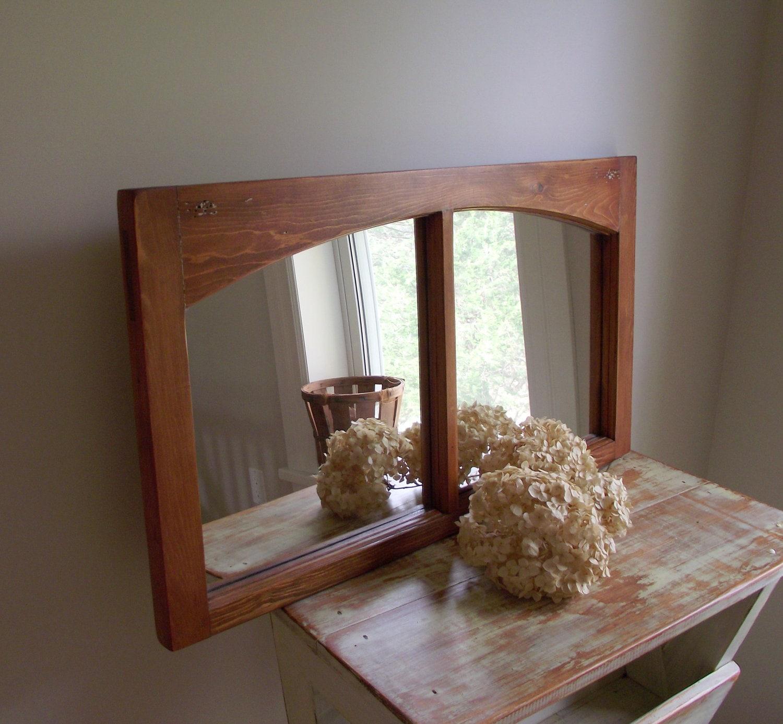 Window wall mirror shabby chic farmhouse d cor antique for Window wall mirror