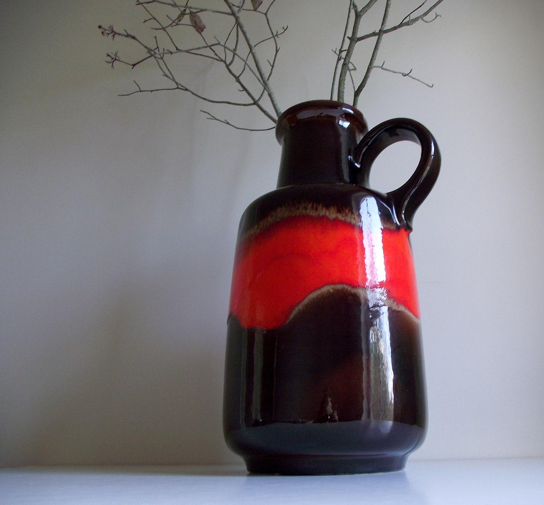Scheurich Floor Vase West German Jug Retro Modern Decor Fat
