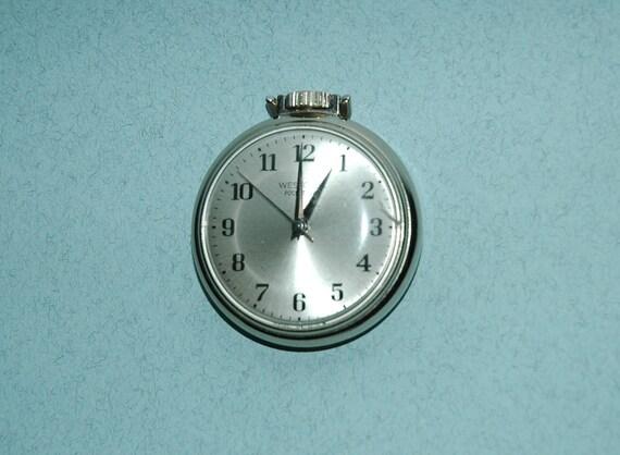 "Vintage 1970s Westclox ""Pocket Ben"" Windup Pocket Watch (Working)"