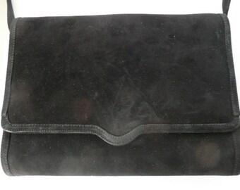 Jay Herbert Vintage Black Suede Purse