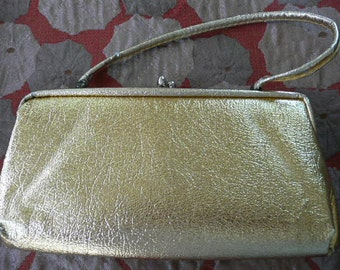 Vintage Gold Purse/Clutch 1960s or 70s