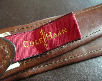 Heavy Duty, as usual, Cole Haan Double Leather Belt with a Solid Brass Buckle    Men or Women size 36