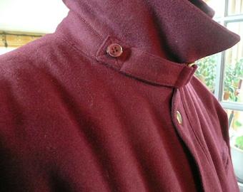 Perfect Vintage Men's Pierre Cardin Cranberry Colored Wool Jacket size large