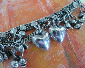 Silvertone High Quality Costume Charm Bracelet