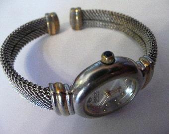 Amitron Diamond Womens Watch 1980s Bracelet Style