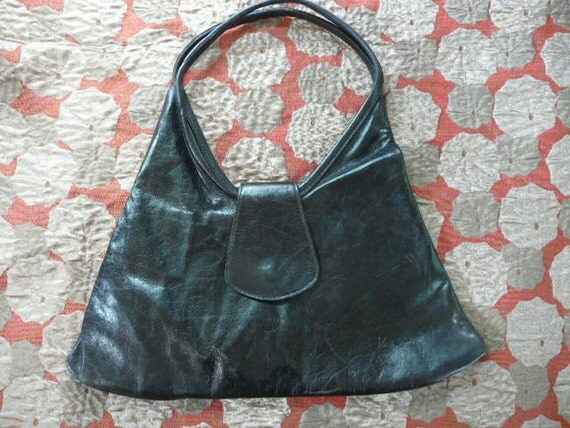 Soft Black Leather Purse from French Designer