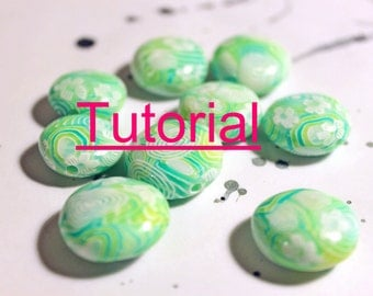 Tutorial : Polymer clay translucent layered beads