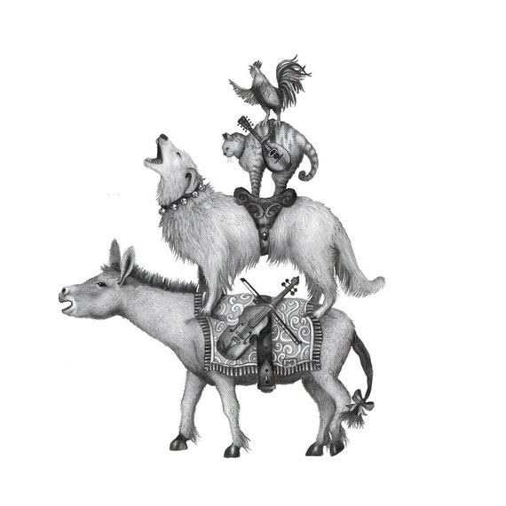 Horse Coloring Book Town Musicians Of Bremen Dog Drawing, PNG ... | 570x570