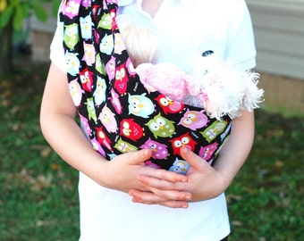 Original Pleated Shoulder Doll Sling - MEDIUM - No Folding Needed - Toy Pouch Sling Carrier