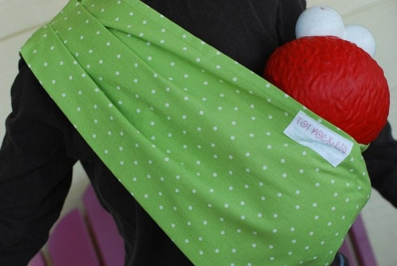ORIGINAL Pleated Shoulder Doll Sling  - Size SMALL - Great for Gift Giving