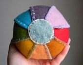 Wool Blend Play Ball w/ Soft Jingle (Rainbow)