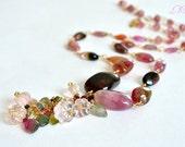 Tourmaline, Rose Quartz Necklace