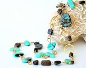 Australian Boulder Opal Chrysoprase Long Necklace