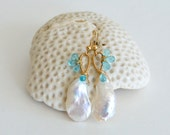 Keishi Pearl Apatite Earrings