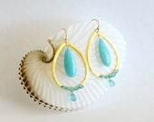 Fashion Drop Earrings Apatite Peruvian Amazonite Vermeil Ring