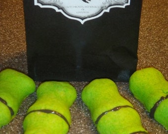 1 DZ  Severed Green Witches Fingers Sugar Cookies