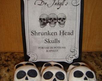 1 DZ  Dr. Jekyll's Shrunken Head Skulls Sugar Cookies