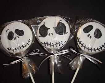 1 DZ  Jack Skellington Cookie Pops Sugar Cookies