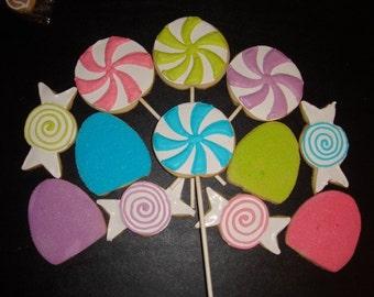 1 DZ  Candyland Sugar Cookies