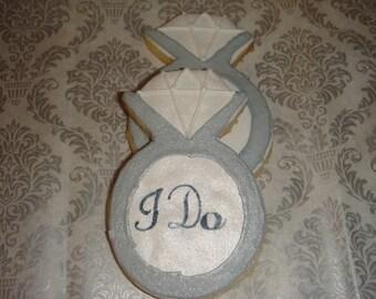 "1 Dz "" I Do"" Wedding Ring Sugar Cookies"