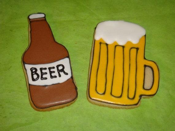 1 DZ  Beer Themed Sugar Cookies