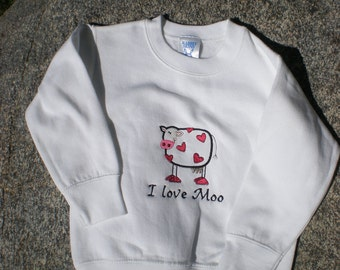Cow Valentines Sweatshirt - child's