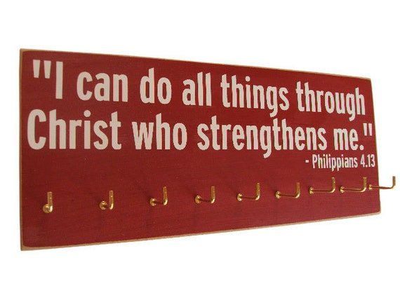 inspirational bible verse running medals hanger quotes