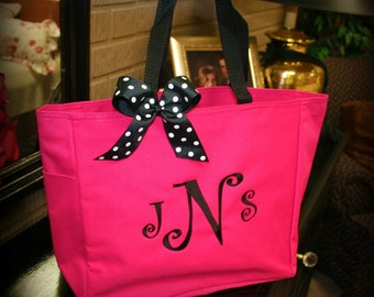Tote with Black Accents in SIX Colors