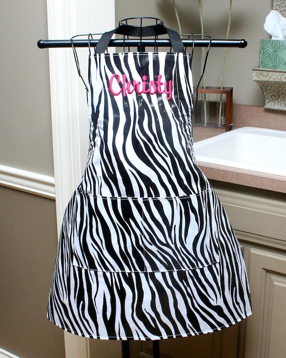 Custom listing for atealady Zebra Oilcloth Apron