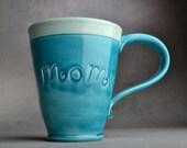 Mom Mug Made To Order Mom Stamped Mug by Symmetrical Pottery