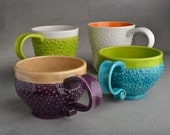 Dottie Mugs: Made To Order Mix And Match Dottie Mugs by Symmetrical Pottery