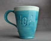 Dad Mug Made To Order Stamped Dad Mug by Symmetrical Pottery