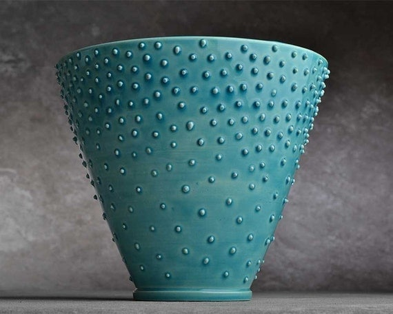 Dottie Vase: Dottie's Cousin Henry Wheel Thrown Vase by Symmetrical Pottery
