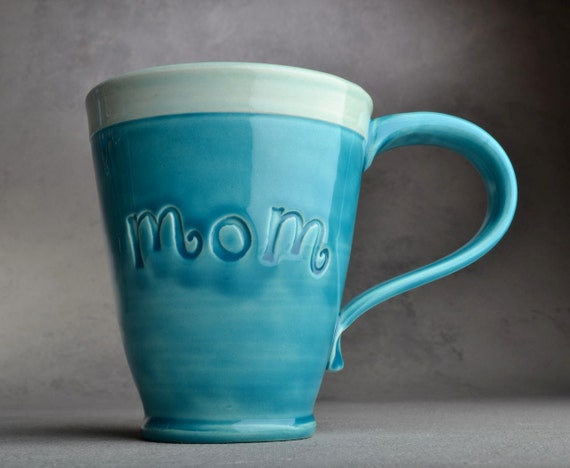 Mom Mug Made To Order Mom Stamped Mug by Symmetrical Pottery