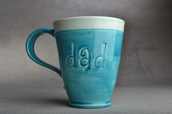 Dad Mug Made To Order Stamped Dad Mug by Symmetrical Pottery