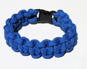 550 Paracord Survival Strap Bracelet Anklet 1 Color w Buckle