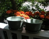 Pair Of Medium One-Piece Planters